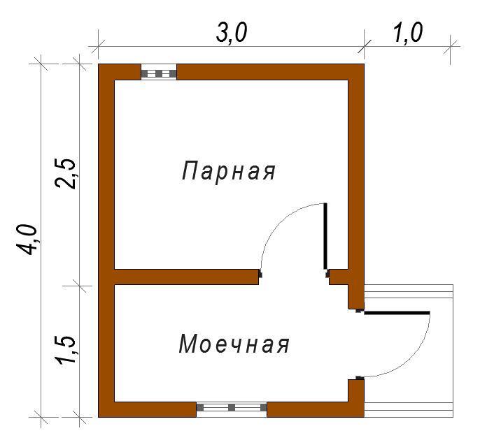 Баня 3х3 своими руками проекты 61